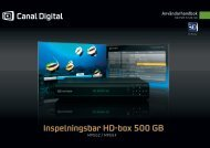Inspelningsbar HD-box 500 GB - Canal Digital