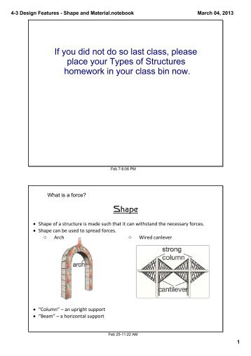 4-3 Design Features - Shape and Material.notebook