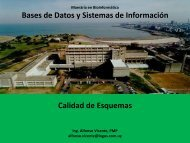 Bases de Datos y Sistemas de Información Calidad de ... - Pedeciba