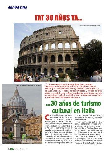 ...30 años de turismo cultural en Italia - TAT Revista