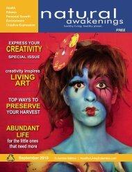 CREATIVITY - Columbia Natural Awakenings–Home
