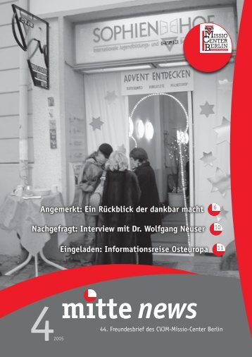 mitte news - CVJM-Missio-Center Berlin