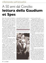 A 50 anni dal Concilio: lettura della Gaudium et Spes - Stimmatini