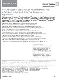 Meta-analysis of brain-derived neurotrophic factor p.Val66Met in ...