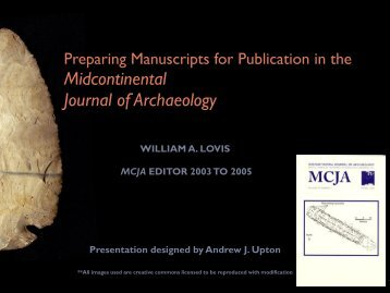 Preparing Manuscripts for Publication in the MCJA - Midwest ...