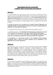 Règlement jeu-concours Audiotel - SMS - Un trésor dans votre ... - M6
