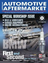 september 2003 - Australian Automotive Aftermarket Magazine