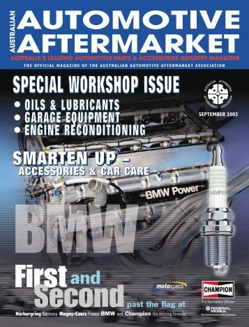 september 2003 - Australian Automotive Aftermarket Magazine