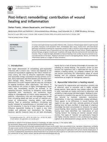 Post-infarct remodelling - Cardiovascular Research