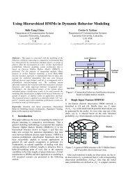Using Hierarchical HMMs in Dynamic Behavior Modeling - CiteSeerX