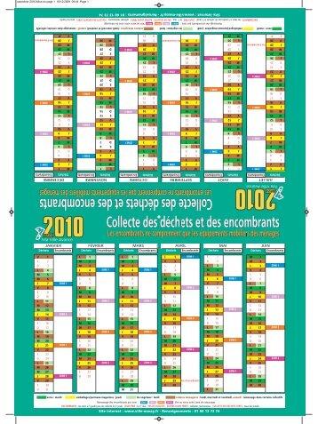 Téléchargez le calendrier des collectes, en cliquant ici (PDF). - Massy