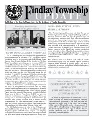 View PDF version of Findlay Township Update - Spring 2013