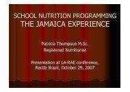 SCHOOL NUTRITION PROGRAMMING - JAMAICA