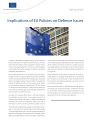 factsheet -Implications of EU Policies on defence issues - European ...