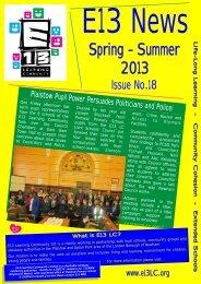 E13 News - Spring-Summer 2013 - Plaistow Primary School