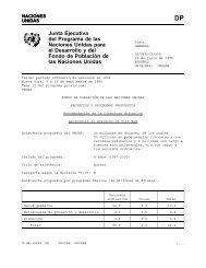 Junta Ejecutiva del Programa de las Naciones ... - Country Page List