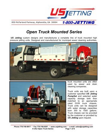 Open Truck Mounted Series - US Jetting