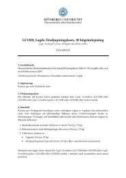 LC1300, Logik: Fördjupningskurs, 30 högskolepoäng
