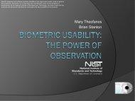 Biometric Usability