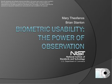 Biometric Usability