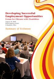 Developing Successful Employment Opportunities - Ohio ...