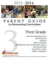 Third Grade Parent Guide - Orange County Schools