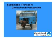 Sustainable Transport: Christchurch Perspective - New Zealand ...