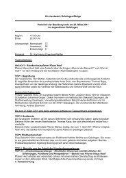Protokoll der Bezirkssynode 25. März 2011 - Evangelischer ...