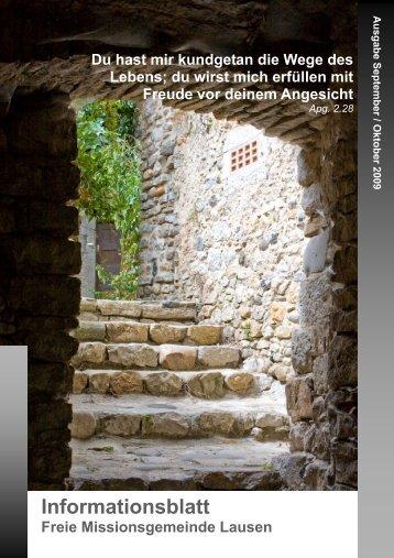 Ausgabe September / Oktober 2009 - FMG Lausen