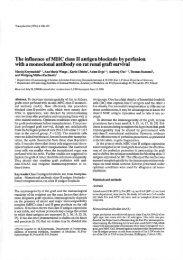 The influence ofMHC class II antigen blockade byperfusion ... - OPUS