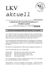aktuell - Landeskontrollverband Brandenburg eV
