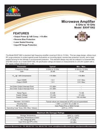 Microwave Amplifier - Spectrum Microwave by API Technologies