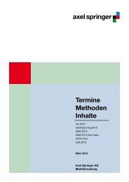 Termine Methoden Inhalte - Planen mit MDS