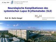 Neurologische Komplikationen des systemischen Lupus ...