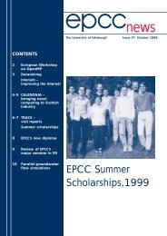 epcc news 37/pages - University of Edinburgh