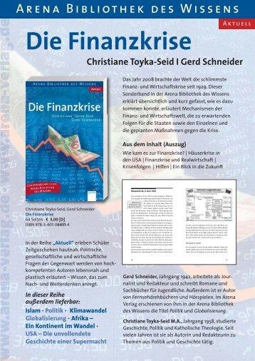 Newsletter ArenaBibo Finanzkrise