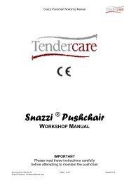 snazzi pushchair workshop manual - Tendercare Ltd