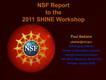 Solar Terrestrial Research - shine