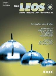 LASERS & ELECTRO-OPTICS SOCIETY NEWS - IEEE Photonics ...