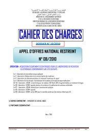 appel d'offres national restreint n° 08/2010 - Université de Sidi-Bel ...