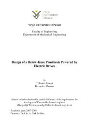 stress analysis - the Dept. of Mechanical Engineering at - Vrije ...