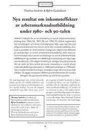 Nya resultat om inkomsteffekter av ... - Lunds universitet