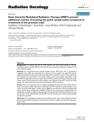 Does Intensity Modulated Radiation Therapy (IMRT) prevent ...