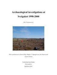 Archaeological investigations at Sveigakot 1998-2000 - Nabo