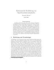 Mathematische Modellierung von Signaltransduktionskaskaden