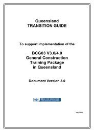 BCG03 General Construction Training Package Transition Guide