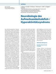 Neurobiologie des Aufmerksamkeitsdefizit-/ Hyperaktivitätssyndroms
