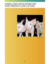 The animal feed industry is a large and important consumer of whey ...