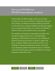 GHI PPO/EPO and PPO/EPO Share - EmblemHealth