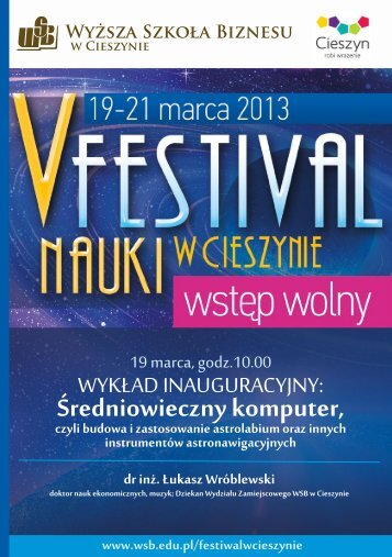 Program Festiwal Nauki.pdf - Cieszyn.pl